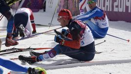 23 февраля 2014 года. Сочи. Александр ЛЕГКОВ (№3) стал олимпийским чемпионом на дистанции 50 км.