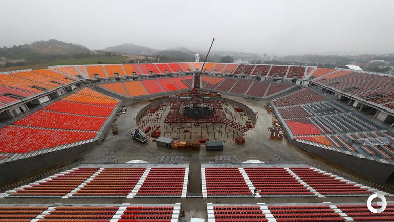Олимпийский стадион в Пхенчхане.
