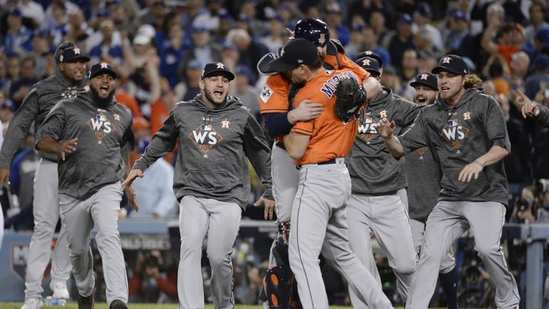 """""""Хьюстон Астрос"""" впервые в своей истории выиграли мировую серию MLB. Фото USA TODAY"""
