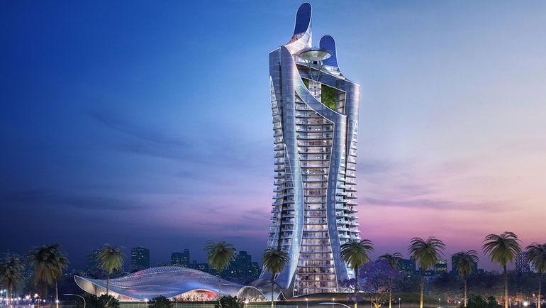 """Проект элитного жилого комплекса, известного как """"Ballet by Sharapova""""."""