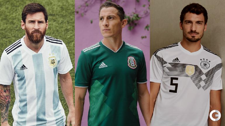 Форма сборных Аргентины, Мексики и Германии.