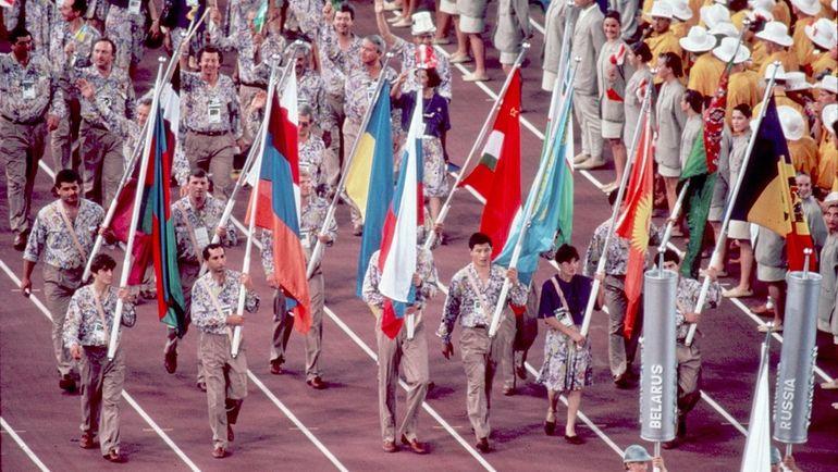Открытие Олимпийских игр, Барселона, 1992. Фото Андрей ГОЛОВАНОВ, Сергей КИВРИН