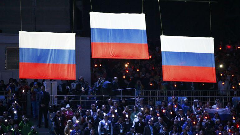 Ранее россиян уже хотели оставить без флага. Фото REUTERS