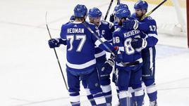 Тройка НАМЕСТНИКОВ – СТЭМКОС – КУЧЕРОВ – одна из сильнейших в НХЛ прямо сейчас.