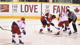 Сегодня. Оуэн-Саунд. Сборная России (U-20) - Сборная OHL - 5:2.