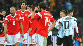 """Суббота. Москва. """"Лужники"""". Россия - Аргентина - 0:1. Следующий соперник россиян - Испания."""