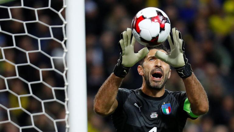 10 ноября. Стокгольм. Швеция - Италия - 1:0. Джанлуиджи БУФФОН. Фото REUTERS