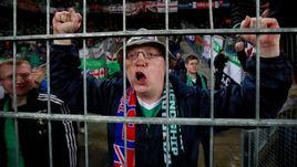 Сегодня. Базель. Швейцария – Северная Ирландия – 0:0. Один из фанатов британской сборной.