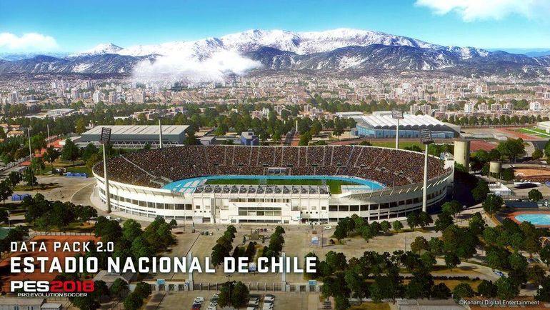 Национальный стадион Чили в PES 2018. Фото facebook.com/PES