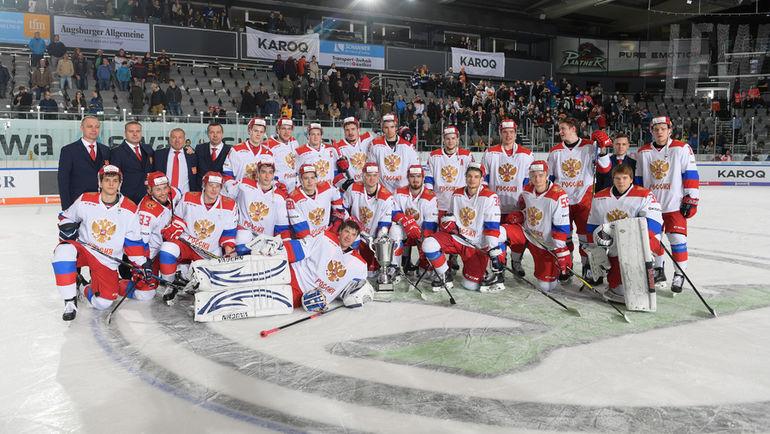 Олимпийская сборная России - победитель Кубка Германии. Фото ФХР