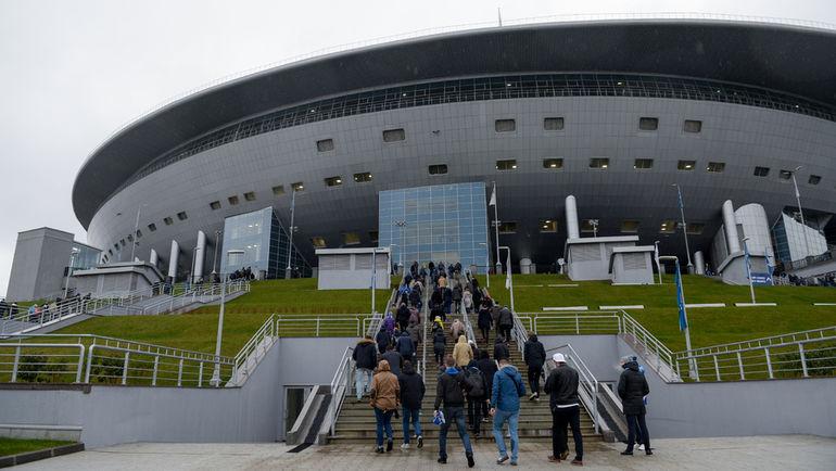 """Стадион """"Санкт-Петербург"""" на Крестовском острове. Фото Дарья ИСАЕВА, """"СЭ"""""""