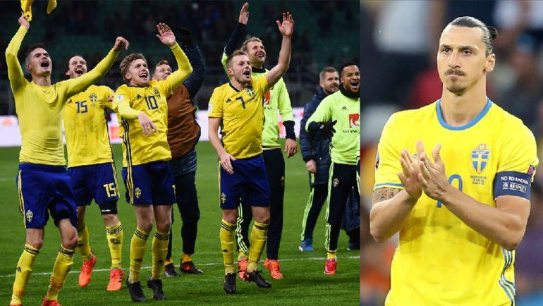 Вернется ли Златан ИБРАГИМОВИЧ (справа) в сборную Швеции для участия в чемпионате мира в России.