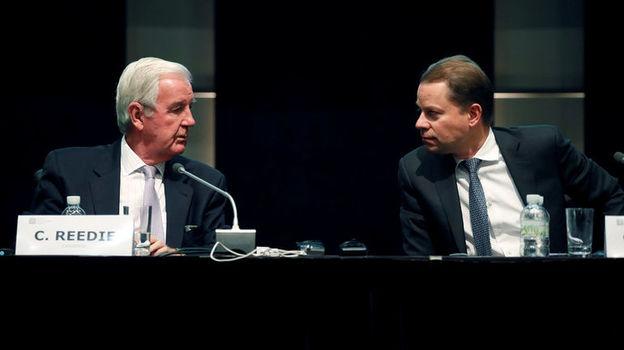 Президент ВАДА Крэйг РИДИ (справа) и гендиректор агентства Оливер НИГГЛИ. Фото AFP
