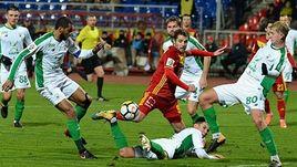 """Суббота. Тула. """"Арсенал"""" - """"Рубин"""" - 0:0. В атаке Кирилл КОМБАРОВ."""