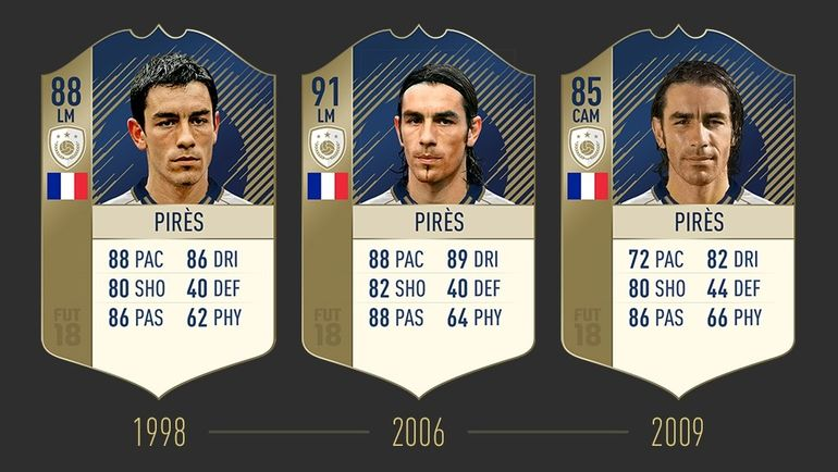 Карточки Робера Пиреса в FIFA 18. Фото easports.com