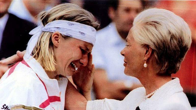 Яна НОВОТНА и герцогиня Кентская Кэтрин после финала Уимблдона-1993. Фото Daily Mail