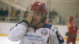 Максим РЫБИН в игре за сборную России.