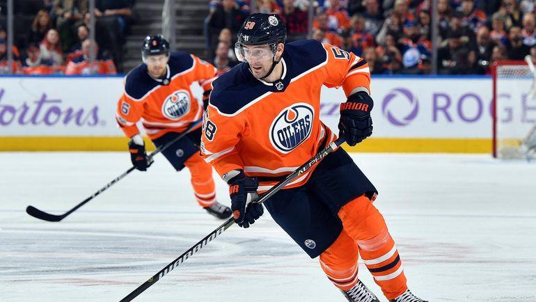 Антон СЛЕПЫШЕВ (№58). Фото twitter.com/EdmontonOilers
