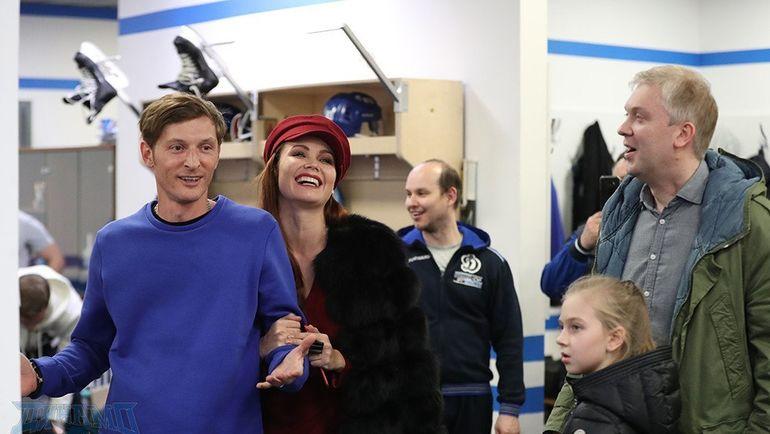 """Павел ВОЛЯ (слева) и Сергей СВЕТЛАКОВ (справа). Фото ХК """"Динамо"""""""