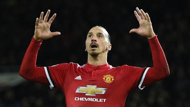 "Нападающий ""Манчестер Юнайтед"" Златан ИБРАГИМОВИЧ. Фото AFP"