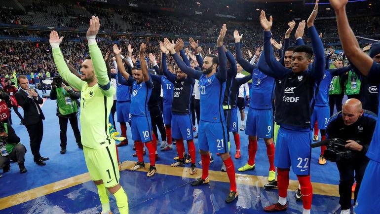Сборная Франции едет в Россию в статусе вице-чемпиона Европы-2016. Фото REUTERS
