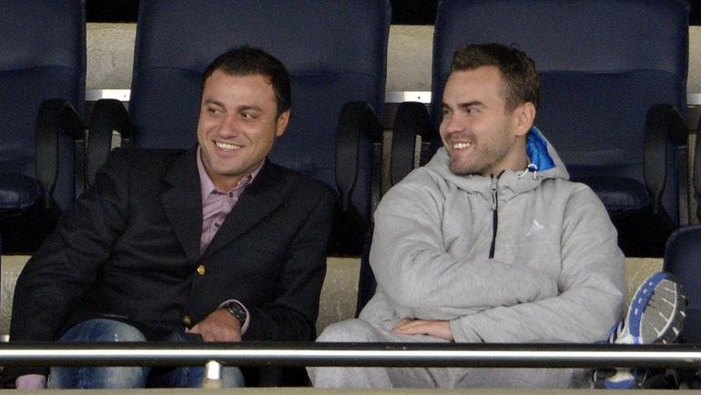 """Ролан ГУСЕВ (слева) и Игорь АКИНФЕЕВ. Фото Александр ФЕДОРОВ, """"СЭ"""""""