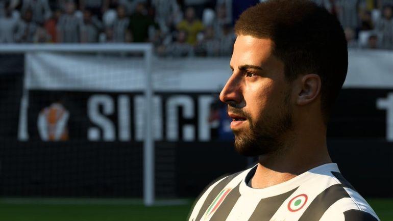 Новая прическа Сами Хедиры в FIFA 18.