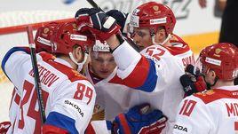 12 ноября. Хельсинки. Чехия - Россия - 2:5. Хоккеисты сборной России празднуют победу. Не пройдет ли подготовка к Олимпиаде впустую?