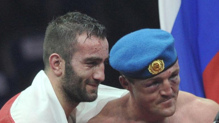 """Мурат ГАССИЕВ (слева) и Денис ЛЕБЕДЕВ. Фото Федор УСПЕНСКИЙ, """"СЭ"""""""