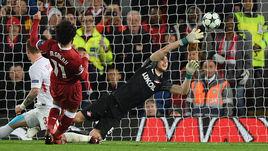 """Вчера. Ливерпуль. """"Ливерпуль"""" - """"Спартак"""" - 7:0. 86-я минута. Седьмой гол в ворота красно-белых - от Мохамеда САЛАХА."""