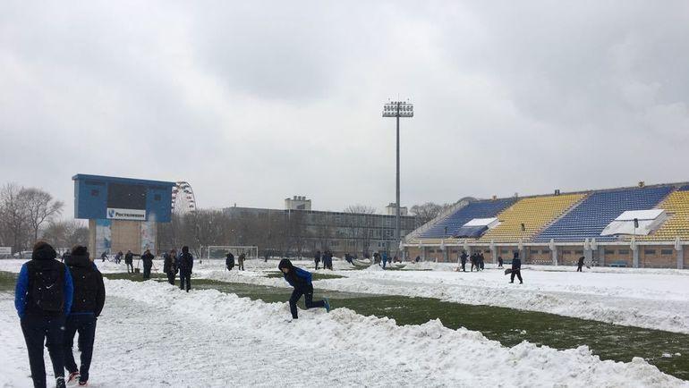 Стадион во Владивостоке.