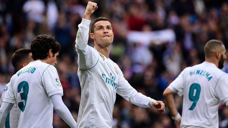 """Сегодня. Мадрид. """"Реал"""" - """"Севилья"""" - 5:0. КРИШТИАНУ РОНАЛДУ празднует забитый мяч. Фото AFP"""