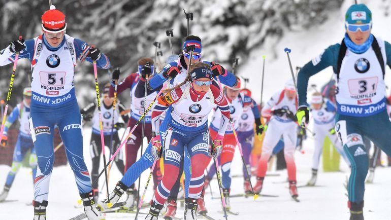 При этом российские биатлонисты могут участвовать в соревнованиях под эгидой организации. Фото AFP