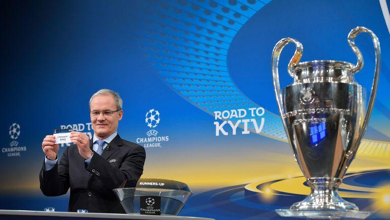 Жеребьевка 1/8 финала Лиги чемпионов. Фото AFP