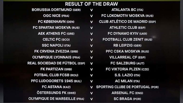 Лига Европы. Пары 1/16 финала. Фото AFP