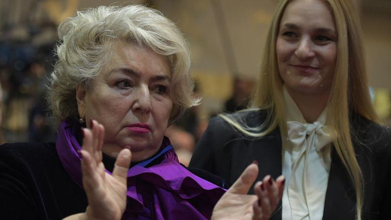 """Татьяна ТАРАСОВА (слева) и Софья ВЕЛИКАЯ. Фото Дарья ИСАЕВА, """"СЭ"""""""