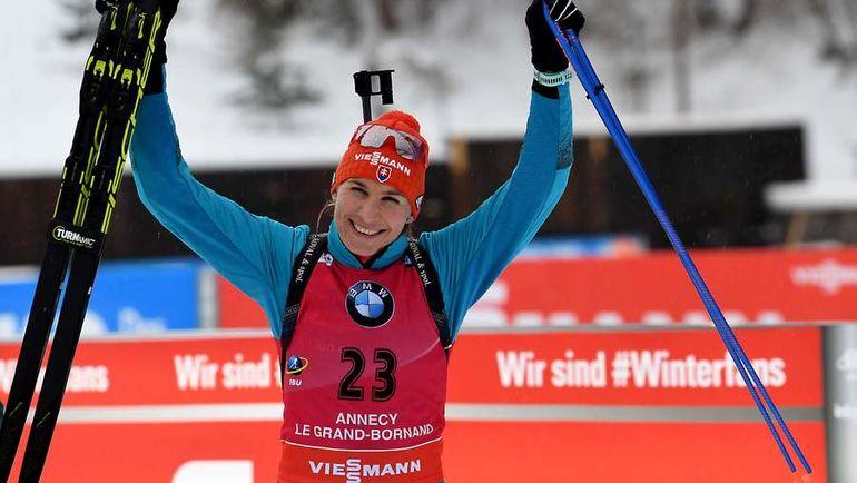 Сегодня. Анси. Победительница спринтерской гонки Анастасия КУЗЬМИНА. Фото AFP