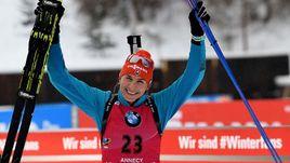 Сегодня. Анси. Победительница спринтерской гонки Анастасия КУЗЬМИНА.