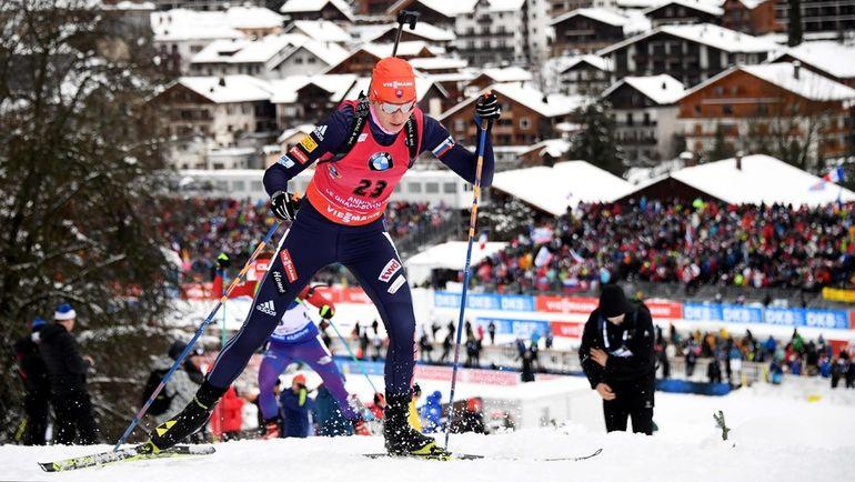 Четверг. Анси. Победительница женского спринта Анастасия КУЗЬМИНА. Фото AFP
