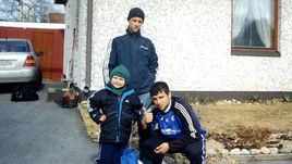 Ретрокадр братьев - Сергей, Роман и Алексей ЕРЕМЕНКО.
