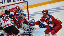 Сегодня. Москва. Россия - Канада - 2:0. Россияне победили канадцев за два месяца до Олимпиады-2018.