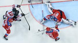 Сегодня. Москва. Россия - Канада - 2:0. Россияне победили канадцев на домашнем турнире.
