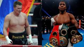 Александр ПОВЕТКИН (слева) стал обязательным претендентом на титул суперчемпиона WBA и сразится с обладателем пояса Энтони ДЖОШУА.