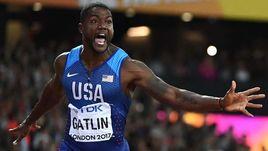 5 августа. Лондон. Джастин ГЭТЛИН выигрывает финал на 100-метровке на чемпионате мира. Позади остается в том числе Усэйн Болт.