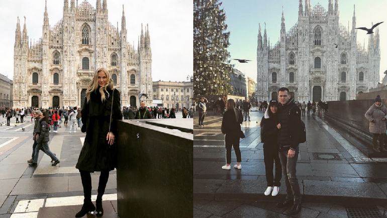 Дарья КЛИШИНА и Артем РЕБРОВ в Милане. Фото instagram.com/