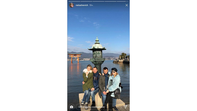 Сергей СЕМАК и Сергей ИГНАШЕВИЧ с женами на отдыхе. Фото instagram.com/