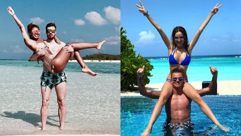 Иван НОВОСЕЛЬЦЕВ с женой и Дмитрий ТАРАСОВ с девушкой. Фото instagram.com/