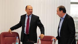 Президент РФПЛ Сергей ПРЯДКИН (слева) и президент ЦСКА Евгений ГИНЕР.