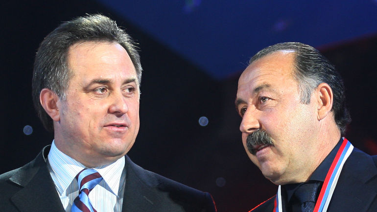 """Валерий ГАЗЗАЕВ (справа) и Виталий МУТКО. Фото Александр ФЕДОРОВ, """"СЭ"""""""