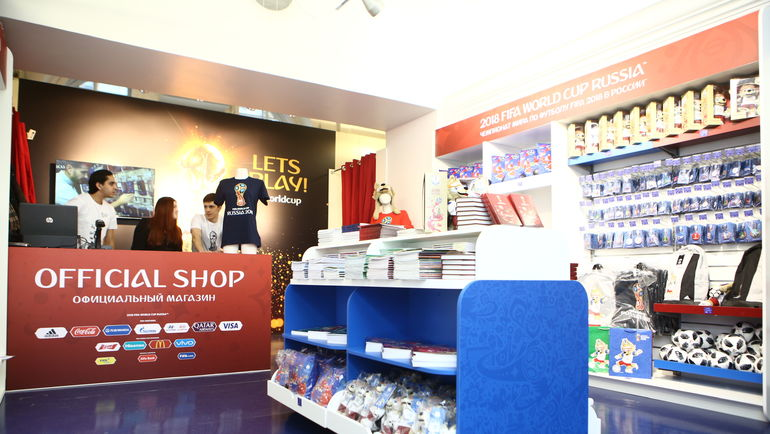 В Санкт-Петербурге открылись официальные магазины чемпионата мира-2018.